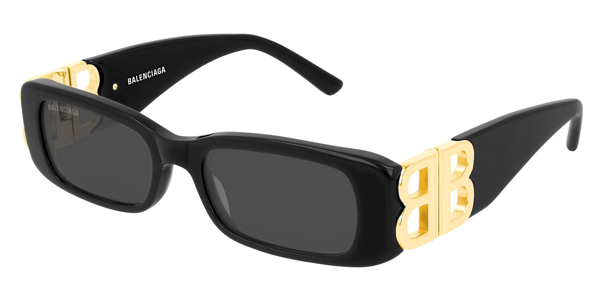 BB0096S Sunglasses by Balenciaga™. Shape: Narrow / Rectangle, Material: Acetate, Frame Type: Full Rim.